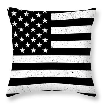 Throw Pillow featuring the digital art Usa Flag Hidef Super Grunge Patina by Bruce Stanfield