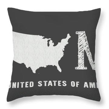 Usa Home Throw Pillow