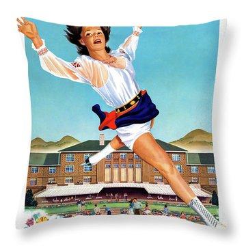 Usa Idaho Sun Valley Vintage Poster Restored Throw Pillow