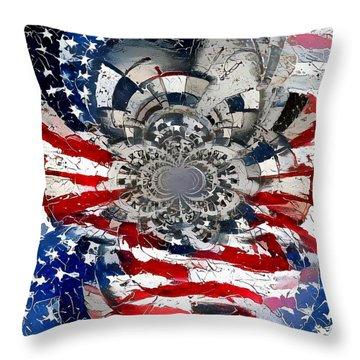 Usa Patriot Throw Pillow