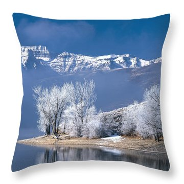 Usa, Utah, Deer Creek State Park Throw Pillow by Panoramic Images