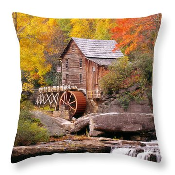 Usa, West Virginia, Glade Creek Grist Throw Pillow