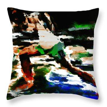 Usain Bolt 3f Throw Pillow