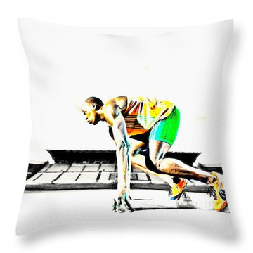 Usain Bolt The Fastest Man On The Planet Throw Pillow