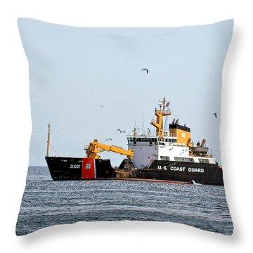 Uscg Cutter Willow Throw Pillow by Constantine Gregory