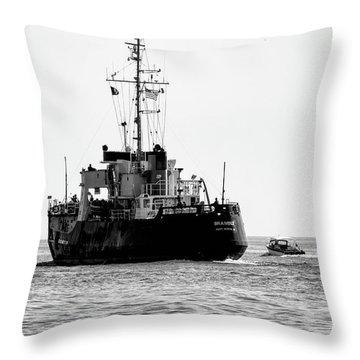 White Portugeuse Throw Pillow by Randy J Heath