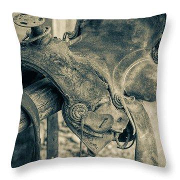 Used Saddle Throw Pillow