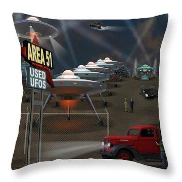 Area 51 Used U F O S Throw Pillow by Mike McGlothlen