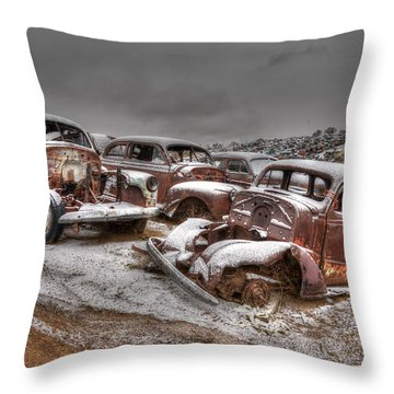 Used Up Throw Pillow
