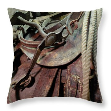 Throw Pillow featuring the photograph Used Up by Scott Kingery