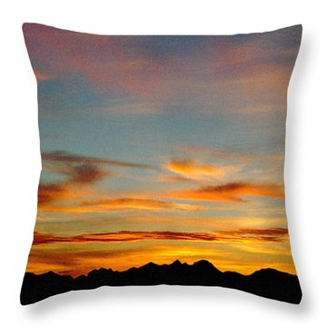 Usery Sunset Throw Pillow