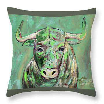 Usf Bull Throw Pillow