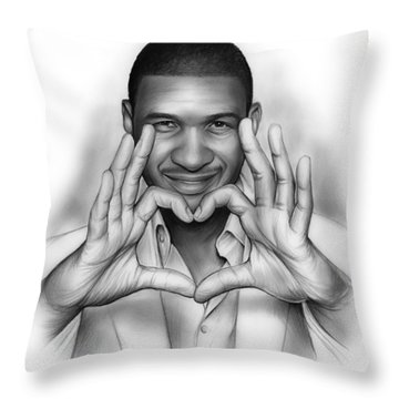 Usher Throw Pillow