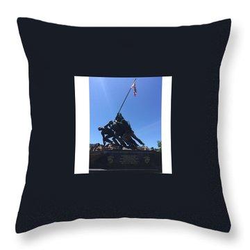 Usmc War Memorial Throw Pillow
