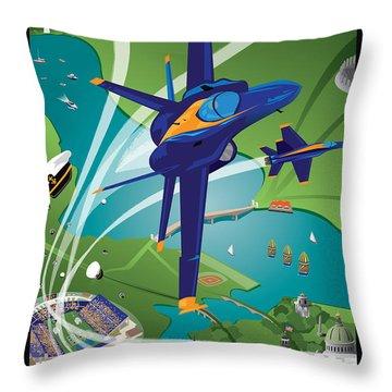 Usna Class Of 2015 16 X 24 Throw Pillow