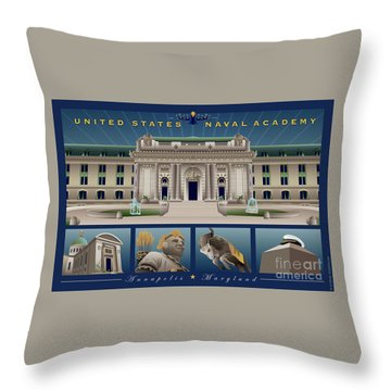 Usna Monuments Tribute 2 Throw Pillow