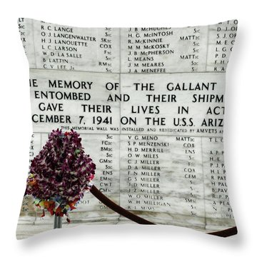 U.s.s. Arizona Memorial Throw Pillow