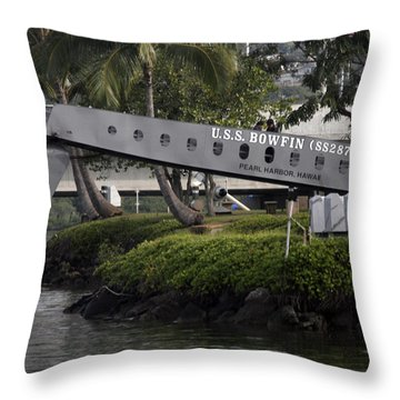 U.s.s. Bowfin Throw Pillow