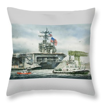 Uss Carl Vinson Throw Pillow by James Williamson