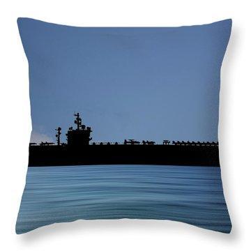 Uss  Dwight D. Eisenhower 1977 V4 Throw Pillow