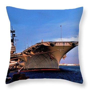Uss Forrestal Cv-59 Throw Pillow by Thomas R Fletcher