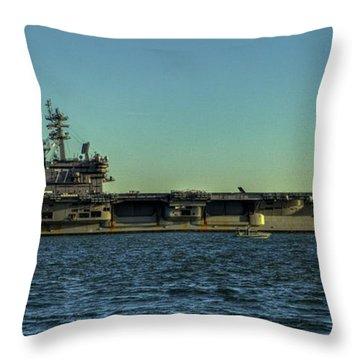 Uss George Hw. Bush Throw Pillow