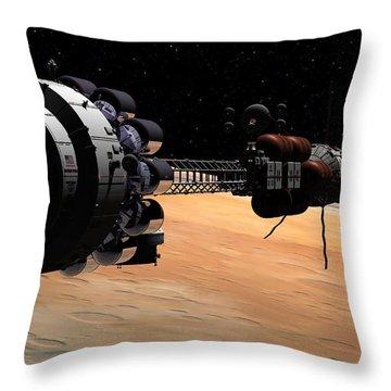 Uss Hermes 1 In Orbit Throw Pillow
