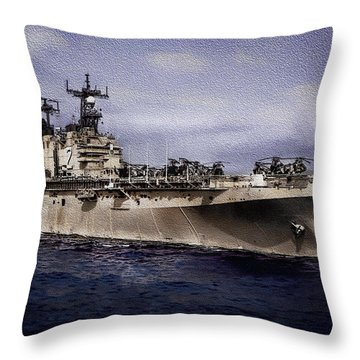 Uss Iwo Jima Lph2 Throw Pillow
