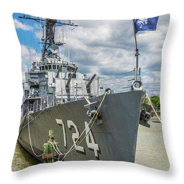 Uss Laffey Dd-724 Throw Pillow