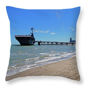 Uss Lexington Throw Pillow