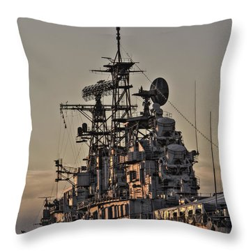 Throw Pillow featuring the photograph U.s.s Little Rock by Jim Lepard