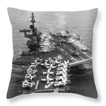 Uss Midway Leaves Sf Throw Pillow
