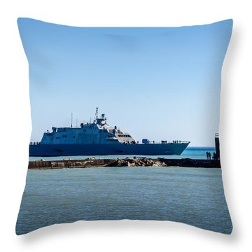 Uss Milwaukee Throw Pillow