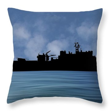 Uss Pearl Harbor 1996 V1 Throw Pillow