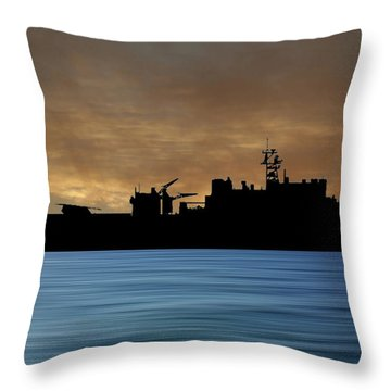 Uss Pearl Harbor 1996 V2 Throw Pillow