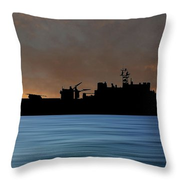 Uss Pearl Harbor 1996 V3 Throw Pillow