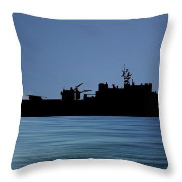 Uss Pearl Harbor 1996 V4 Throw Pillow