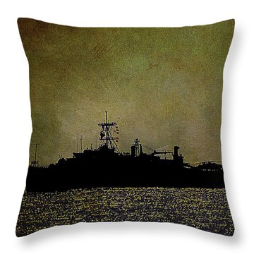 Uss Ponce Lpd-15 Throw Pillow
