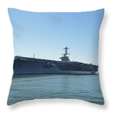 Uss Ronald Reagan-1 Throw Pillow