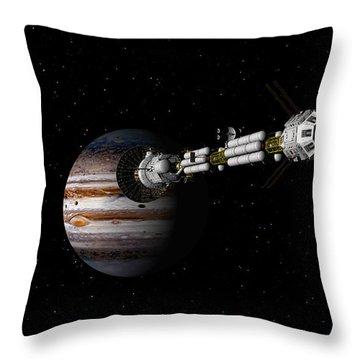 Uss Savannah Approaching Jupiter Throw Pillow