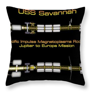 Uss Savannah Profile Throw Pillow