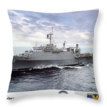 Uss Vancouver Lpd-2 Throw Pillow