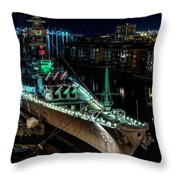 Uss Wisconsin Throw Pillow