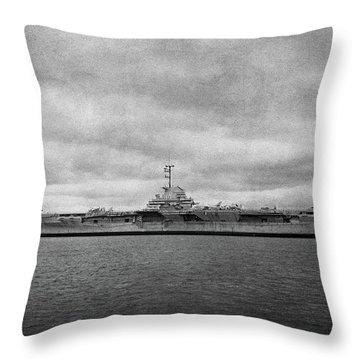 Uss Yorktown Throw Pillow