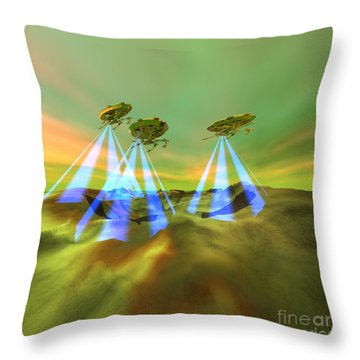 Usurpers Throw Pillow by Corey Ford
