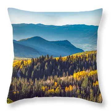 Utah Autumn Panorama Throw Pillow