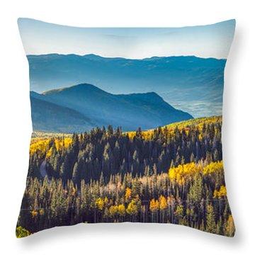 Utah Autumn Panorama Throw Pillow