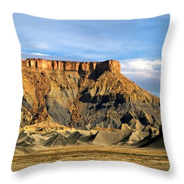 Utah Butte Throw Pillow