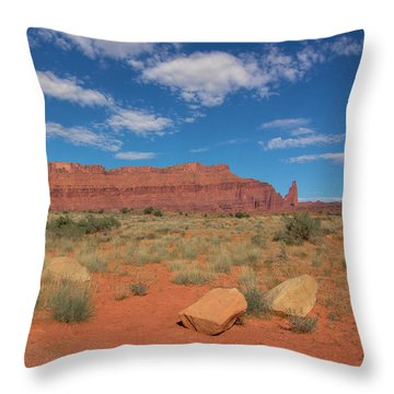 Utah Canyons Throw Pillow by Heidi Hermes
