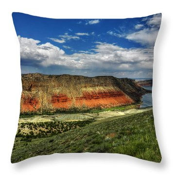 Throw Pillow featuring the photograph Utah - Flaming Gorge 006 by Lance Vaughn
